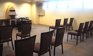 式場内の椅子の配置